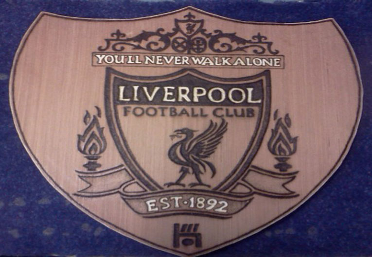 Liverpool Pyrography Football Crest