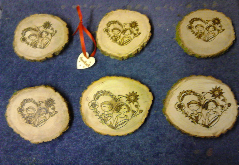 Oak Cheese Boards - Pyrography by Artist Justin Beck