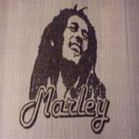 Bob-Marley-Wall-Plaque-Small-Size, Pyrography, Justin Beck
