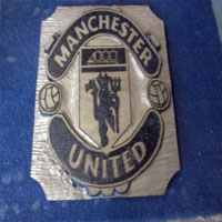 Manchester United Pyrography  Football Crest