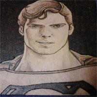 Superman, pyrography, Justin Beck
