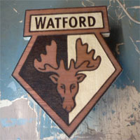 Watford Pyrography Football Crest